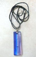 Large Purple Dichroic Glass Pendant And Necklace.